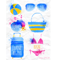 Watercolor summer vector image