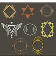 Boho tribal hipster labels set vector image vector image