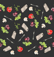 food pattern vegetables vector image