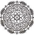 hand drawn flower mandala Ethnic ornament vector image