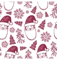 hand drawn seamless Christmas winter vector image