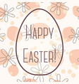 happy easter card with egg banner simple vector image