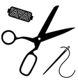 sewing kit vector image