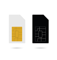 sim card black and white vector image