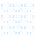 Thumbs up - seamless background vector image