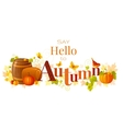 word Autumn with vector image
