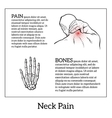 Pain in the neck of a man vector image