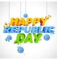 Tricolor background for Happy Republic Day of vector image vector image