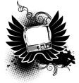 vintage TV sign vector image vector image