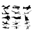 airplanes helicopters vector image