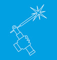 welding torch icon outline vector image