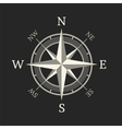 Compass icon isolated on dark background vector image