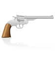 revolver the wild west vector image vector image