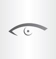 human eye stylized icon vector image