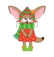 Fox Fennec character on a white background vector image