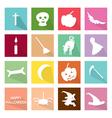 Set of 16 Happy Halloween Icons vector image vector image