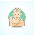 Buddhism monk Tibetan novice icon vector image