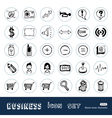 Business media icons vector image vector image