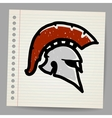 Bronze doodle of Trojan Helmet Spartan helmet vector image
