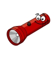 Cartoon flashlight vector image