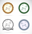 Dog labels vector image