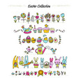 easter set for your design vector image