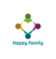 Family heart vector image