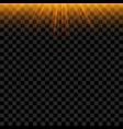 orange sun beams with glowing effect vector image
