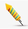 rocket fireworks rainbows color vector image