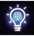 light bulb and brain icon vector image