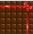 Chocolate With Red Bow vector image