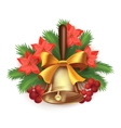 Christmas time composition with bell vector image
