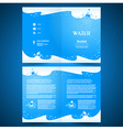 booklet catalog brochure folder water aqua splash vector image