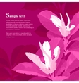 Red magnolia flowers vector image vector image