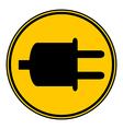 Power cord sign button vector image vector image