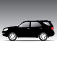 suv car isolated on black vector image