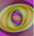 Abstract multicolored hypnotic fractal background vector image