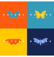 Butterfly Set of logo design templates vector image