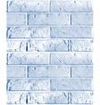 seamless pattern of blue brick wall vector image