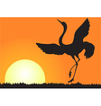 Silhouette of shadoof vector image
