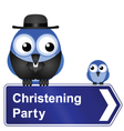 CHRISTENING PARTY SIGN vector image