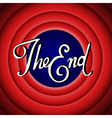 Vintage movie ending screen vector image vector image