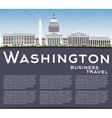 Washington DC Skyline with Gray Buildings vector image