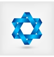 blue six-pointed star symbol vector image