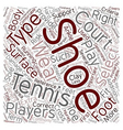 Tennis Shoes A Buyer s Guide text background vector image