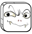 A square with a scary face vector image