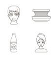 face mask solarium bottle ts lasenom pimples on vector image