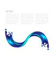 abstract splash of water vector image
