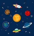 solar system spaceship vector image