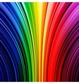 Abstract warped rainbow stripes background vector image
